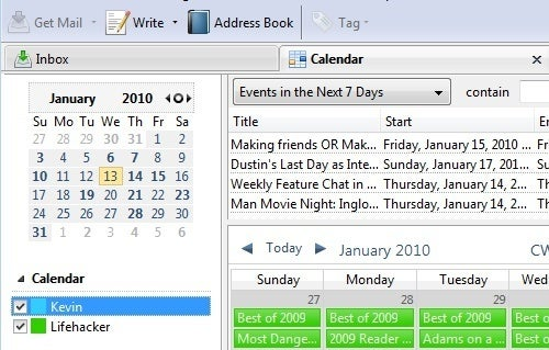 Lightning Beta Brings Calendars Back to Thunderbird 3