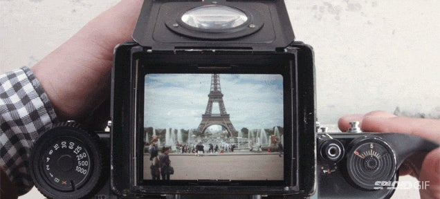 Paris is even more beautiful through the viewfinder of a vintage camera