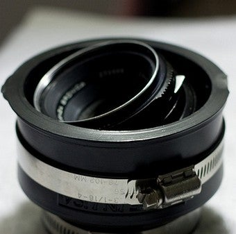 Use Plumbing Parts to Create a Cheap Tilt-Shift Lens