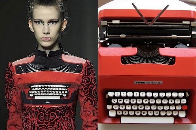 How A Blogger's Photo of a Red Typewriter Inspired a Designer Dress