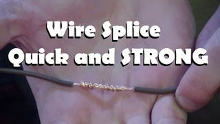 Keep Wires Locked Together with the Lineman Splice