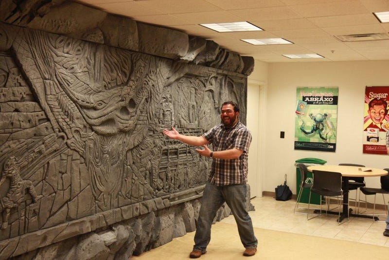 Skyrim's Giant Dragon Wall, Installed on a Regular Office Wall
