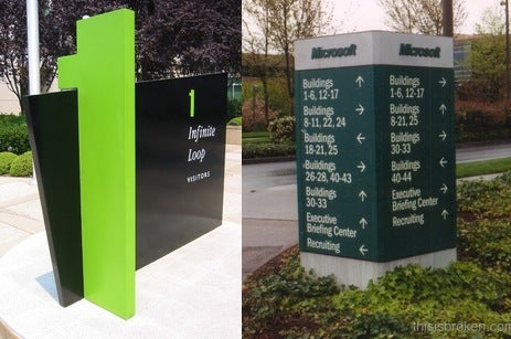 Apple Campus vs. Microsoft Campus: One Visitor's UI Review