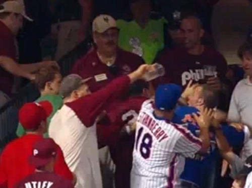 Fisticuffs In New York: Mets Fan Gets Soaked, Dropped