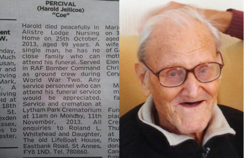 Hundreds Attend Lonely Veteran's Funeral After Sad Obit Goes Viral