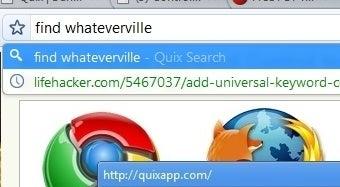 Use Quix Commands as Chrome's Default Search