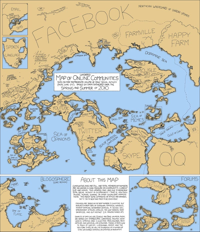 The Updated Map of Online Communities