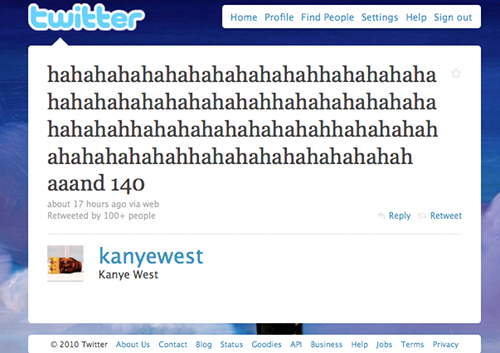 "Kanye Perfects The ""Twitter Cackle"""