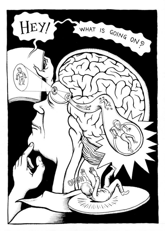 A graphic novel that takes place inside the brain