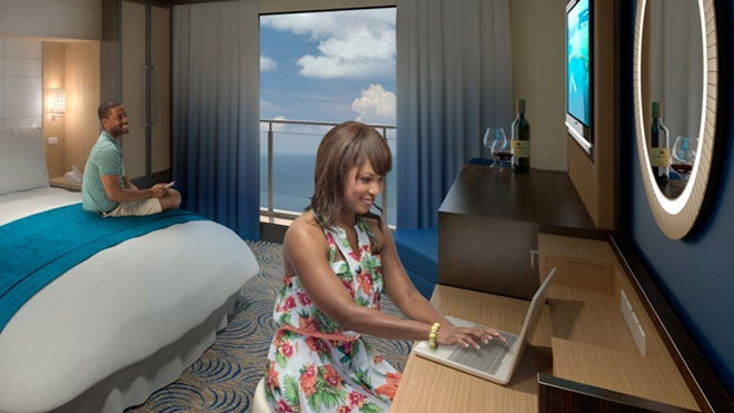 Bad Rooms on the New Royal Caribbean Ship Come with Virtual Balconies
