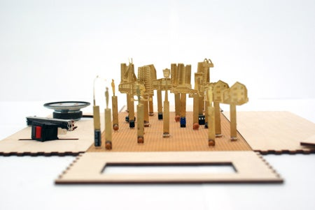 KitRadio Teaches Electronics By Turning Components into Diorama