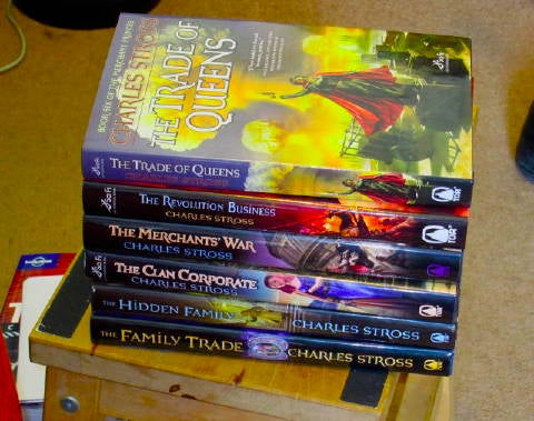 Charles Stross' multiverse saga, The Merchant Princes, continues in 2015