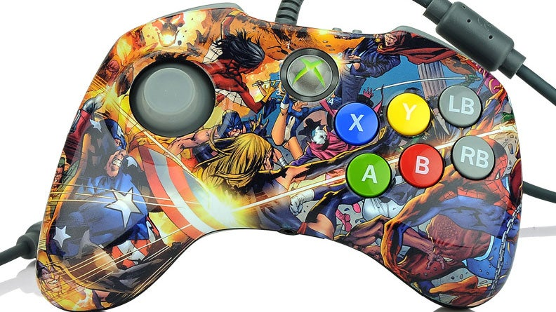 The Marvel Edition Versus Fighting Pad Is Hideously Wonderful