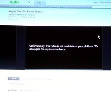 PS3 No Longer Supporting Hulu?