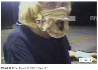 Hamburglar Robs McDonald's With Underwear On Her Face
