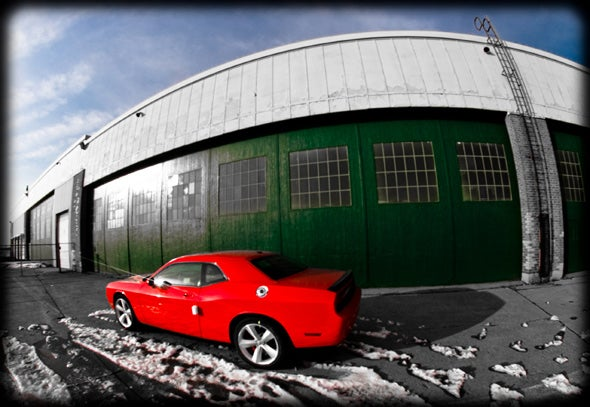 Surplus Dodge Challengers Stored At Old Canadian Military Base