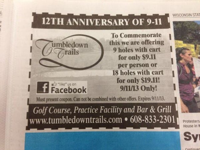 Golf Course's 9/11 Discount Promotion Goes Real Bad, Real Fast