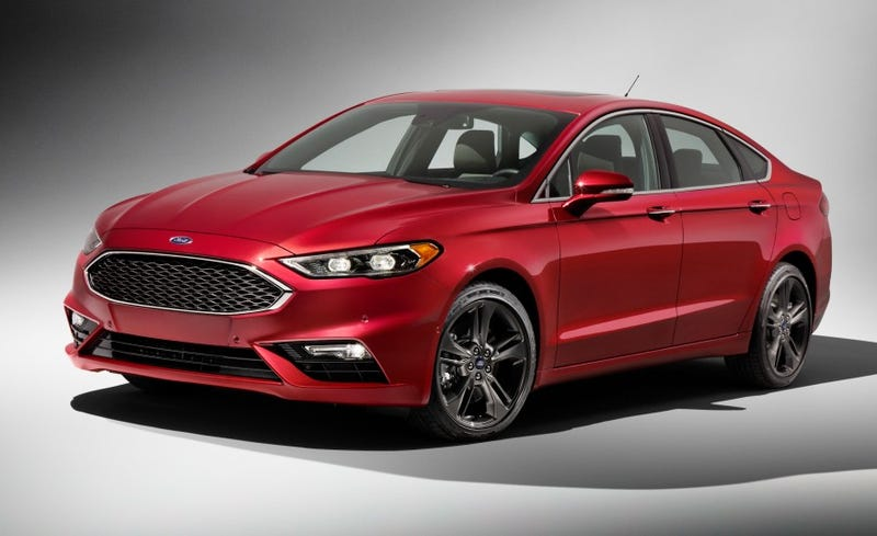 the facelifted 2017 ford fusion gets sporty with a 325 hp twin turbo v6. Black Bedroom Furniture Sets. Home Design Ideas