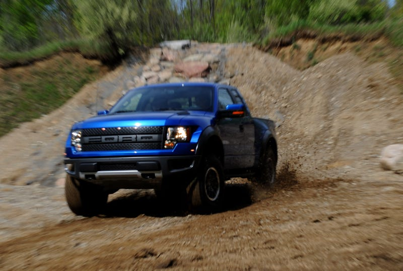 Ford F-150 SVT Raptor In The Mud