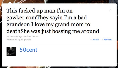 50 Cent Is a Bad Grandson