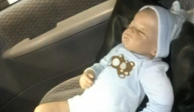 Cops Break Into Car, Save Helpless Baby Doll Trapped Inside