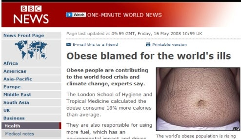 BBC Predicts Worldwide Panic As Fat People Eat Entire Earth