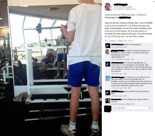 Internet Gets Man Banned from Gym Chain for Mocking Members on Facebook