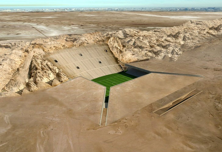 Awesome Desert Stadium Built Right Into the Ground