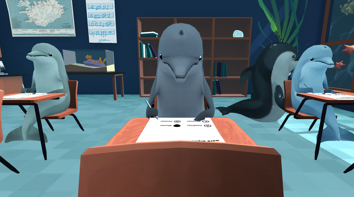 Finally, the Chance to Steal Test Answers Off a Dolphin