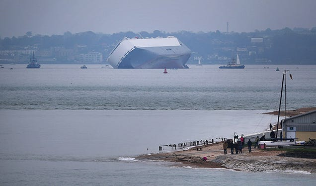 Listing Cargo Ship Deliberately Grounded Off the Isle of Wight