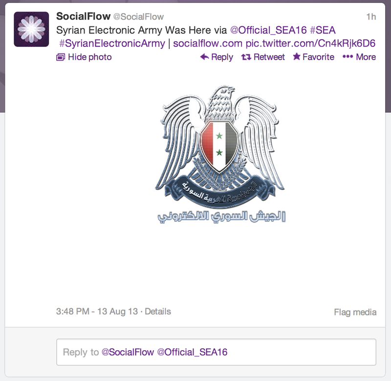 Syrian Electronic Army Hacks SocialFlow: Never Click Email Links