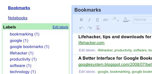 Google Notebook Integrates Google Bookmarks