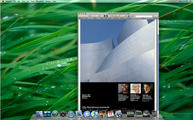 Leopard Desktop improvements heavy on the eye candy, light on the useful