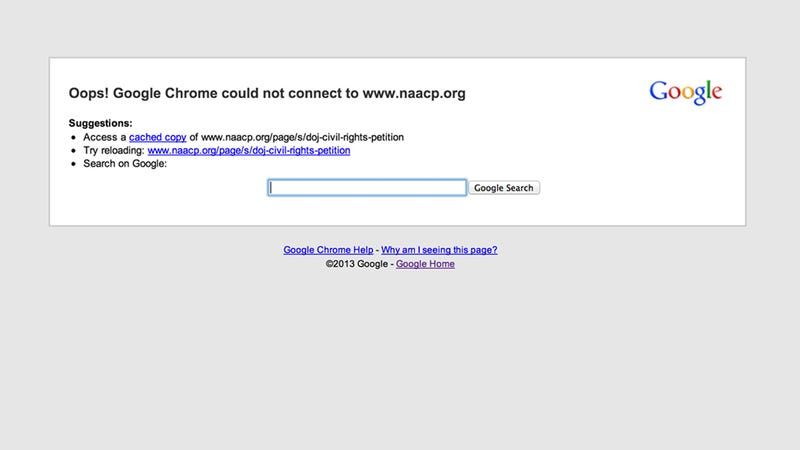 Traffic On A Petition To Prosecute Zimmerman Crashed The NAACP's Site