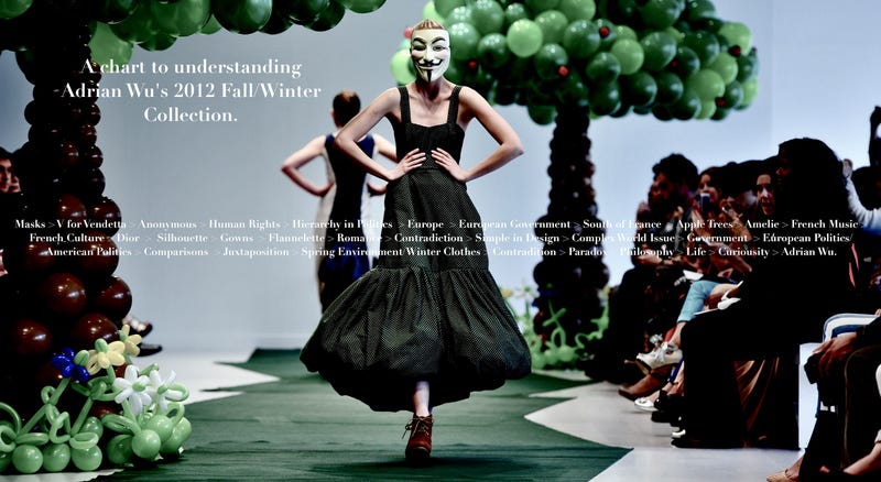 Fashion Show with Hacker Masks 'Baffles Audience'