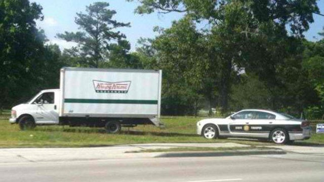 This Is A Cop Pulling Over A Krispy Kreme Truck