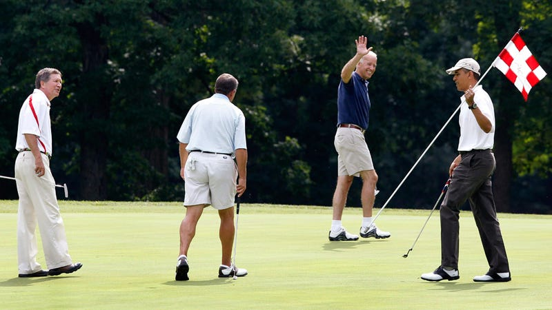 Obama, Boehner Golf Together, Look Like Enormous Dorks Together