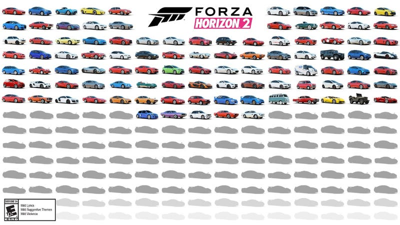 Forza Horizon 2's Car List Is Looking Pretty Awesome So Far