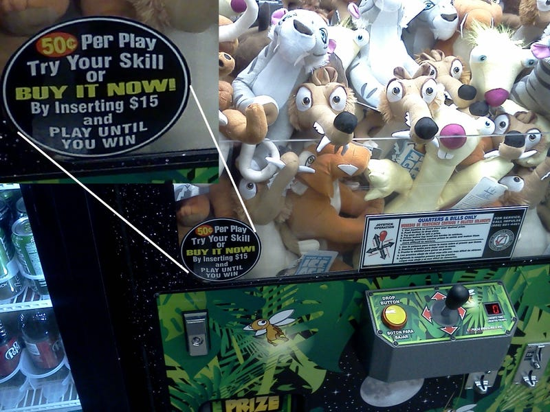 Pay To Win Claw Game