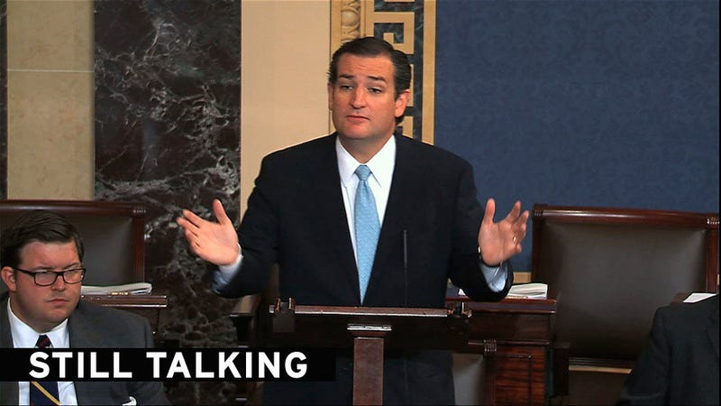 "Ted Cruz's Pointless ""Filibuster"" Is Now in its Second Day"