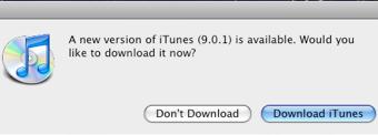 Apple Releases iTunes 9.0.1 Update