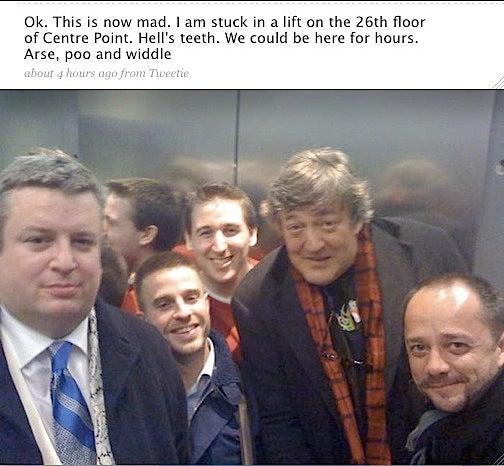 British Star's Adorable Elevator Flip Out