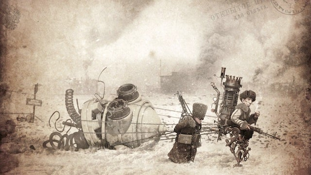 Concept Art Writing Prompt: A Giant Robot's Head Captured in War