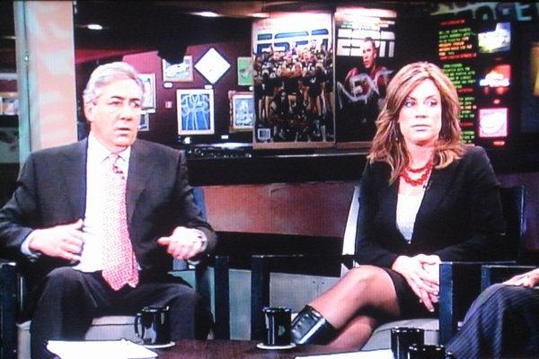 Kim Jones and Her Lovely 'Hooker Boots' Grace the ESPN Set