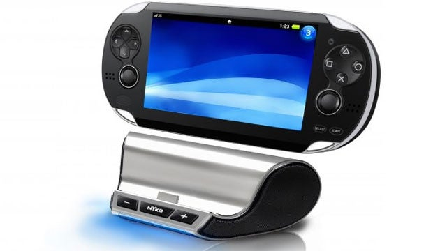 With Skype on the PS Vita Nyko's Speaker Stand is Doubly Handy