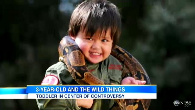 Father Teaches 3-Year-Old Son How to Handle Deadly Snakes and Crocodiles, But Not Everyone Is Impressed