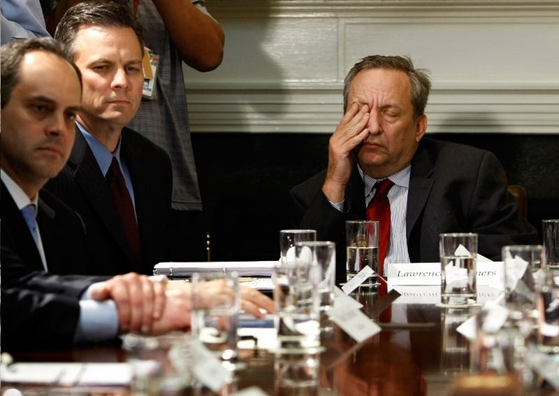 Lawrence Summers Is Asleep at All Times