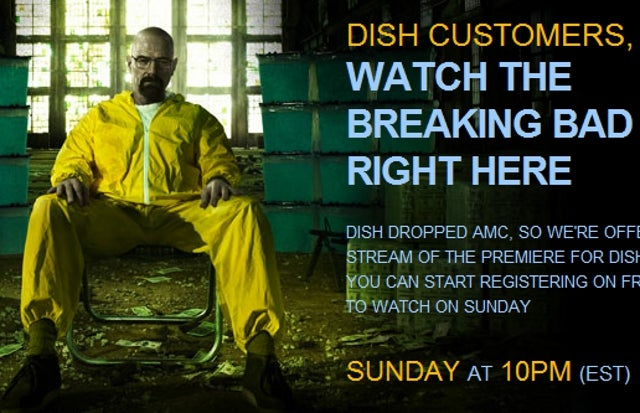 AMC Refuses to Take Squabble with Dish Network Out on Customers, Lets Them Stream Breaking Bad Premiere Online for Free
