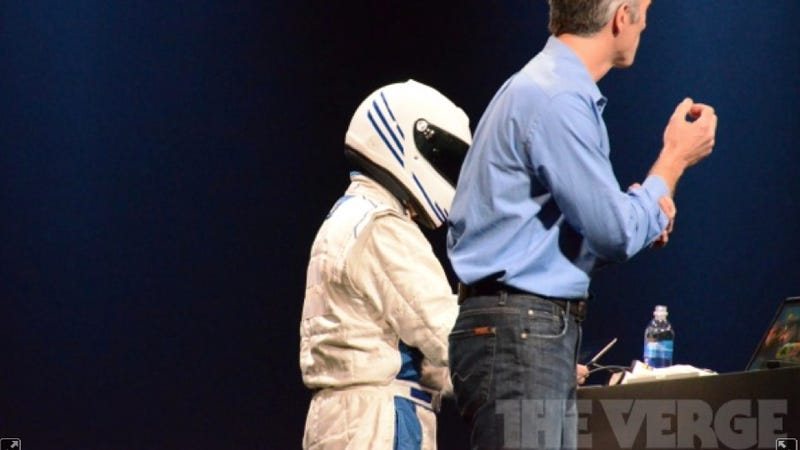 Why The Hell Is Apple Using A Fake Stig At WWDC?