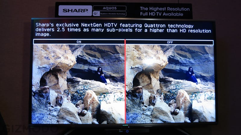 Sharp's New Quattron Plus TV Isn't 4K, But It Can Fake It